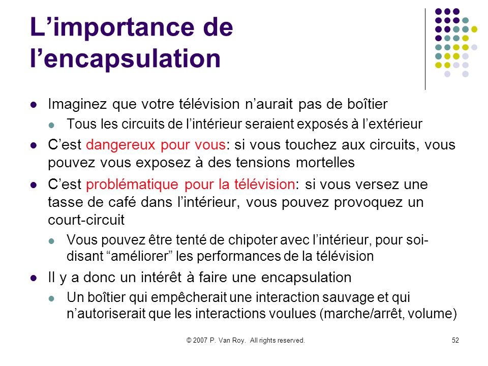 L'importance de l'encapsulation