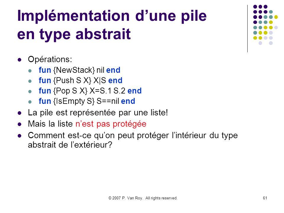Implémentation d'une pile en type abstrait