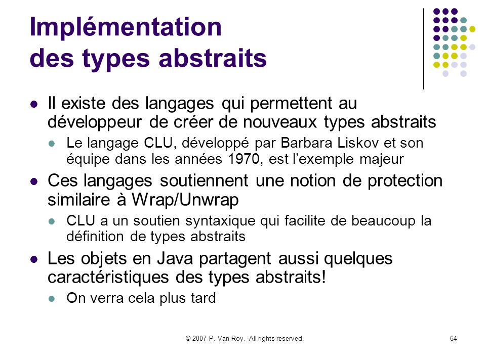 Implémentation des types abstraits