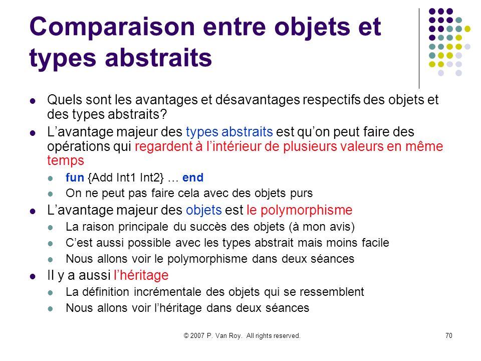 Comparaison entre objets et types abstraits