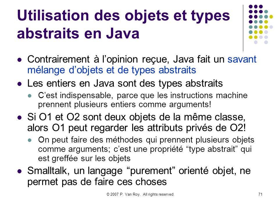 Utilisation des objets et types abstraits en Java