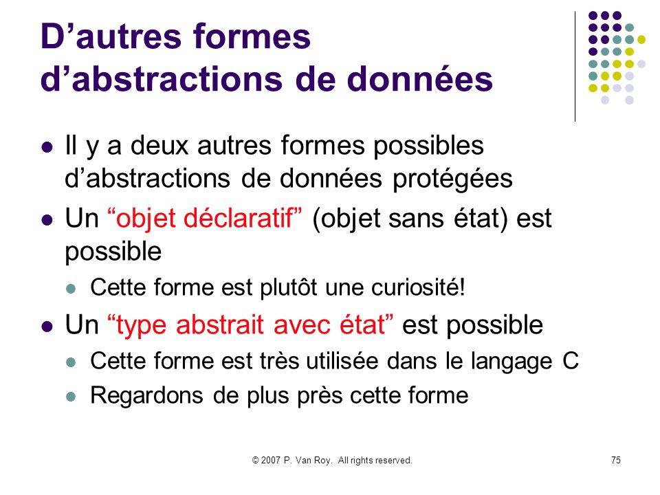 D'autres formes d'abstractions de données