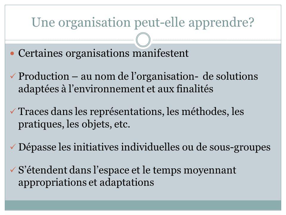 Une organisation peut-elle apprendre