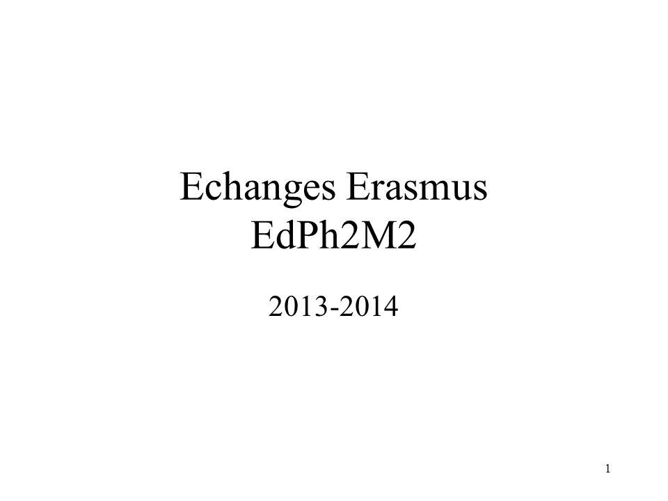 Echanges Erasmus EdPh2M2