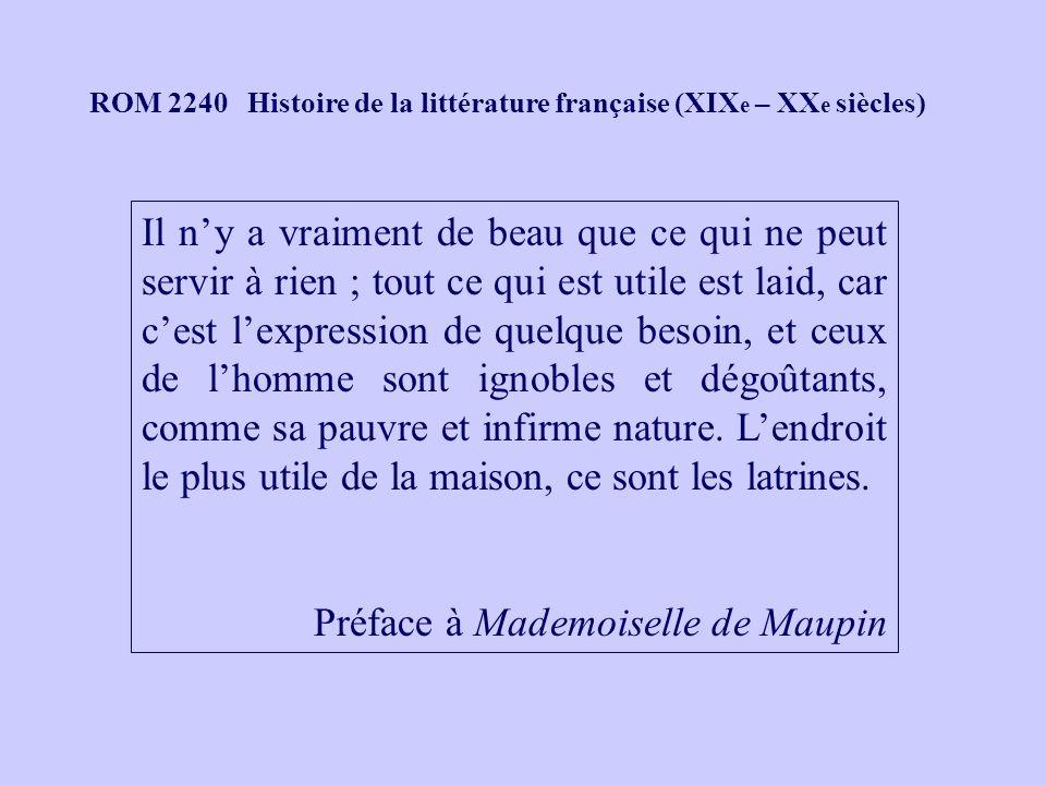 Préface à Mademoiselle de Maupin