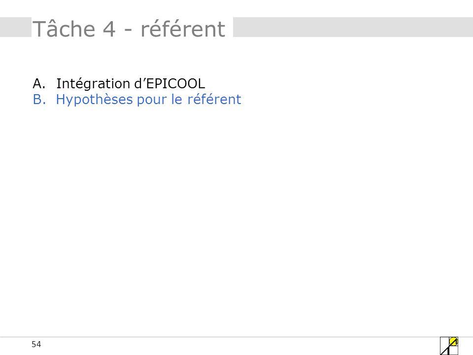 Tâche 4 - référent Intégration d'EPICOOL