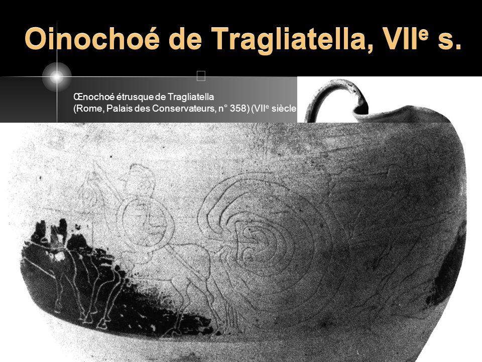 Oinochoé de Tragliatella, VIIe s.
