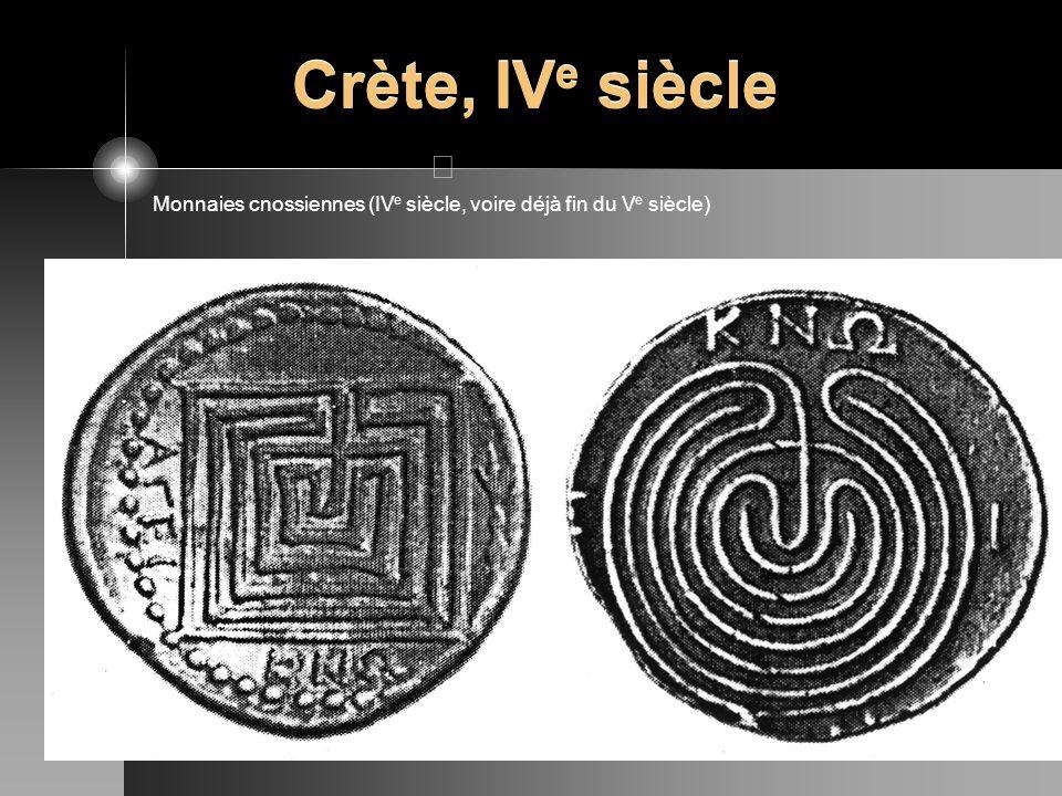 Crète, IVe siècle Monnaies cnossiennes (IVe siècle, voire déjà fin du Ve siècle)