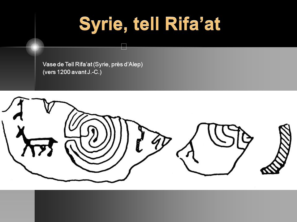 Syrie, tell Rifa'at Vase de Tell Rifa'at (Syrie, près d'Alep)