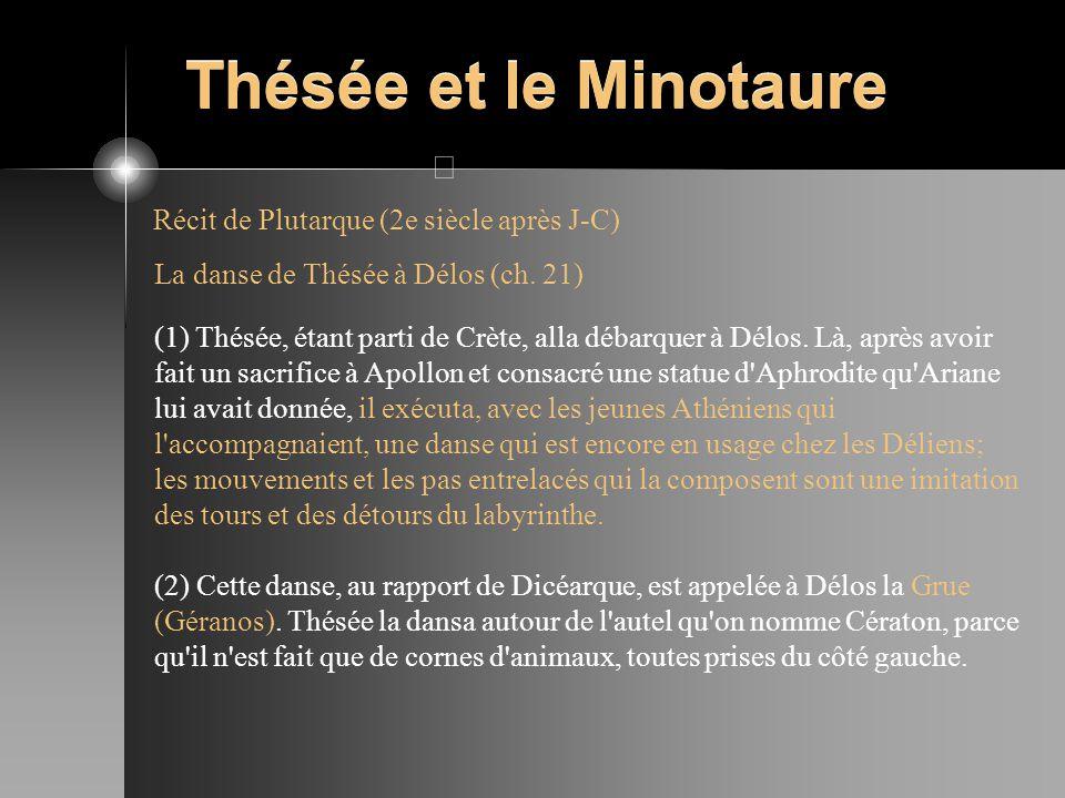 Thésée et le Minotaure Récit de Plutarque (2e siècle après J-C)
