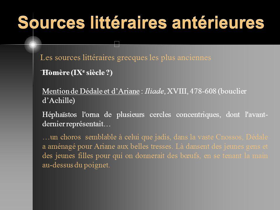 Sources littéraires antérieures