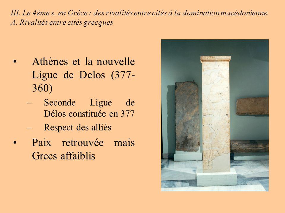 Athènes et la nouvelle Ligue de Delos (377-360)
