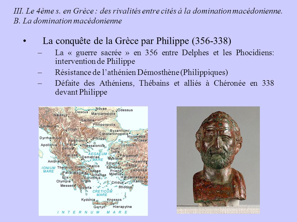 La conquête de la Grèce par Philippe (356-338)