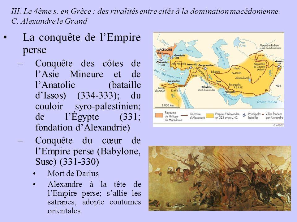 La conquête de l'Empire perse