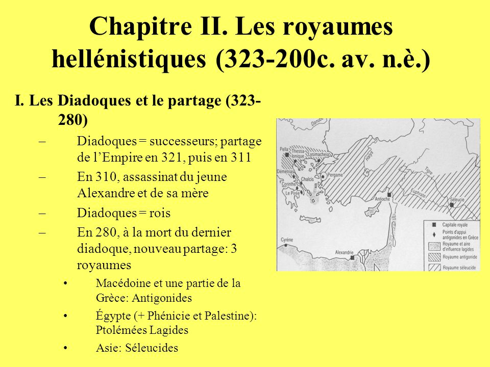 Chapitre II. Les royaumes hellénistiques (323-200c. av. n.è.)