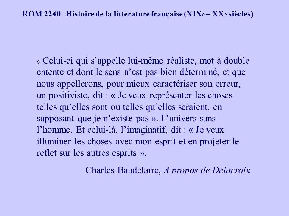 Charles Baudelaire, A propos de Delacroix