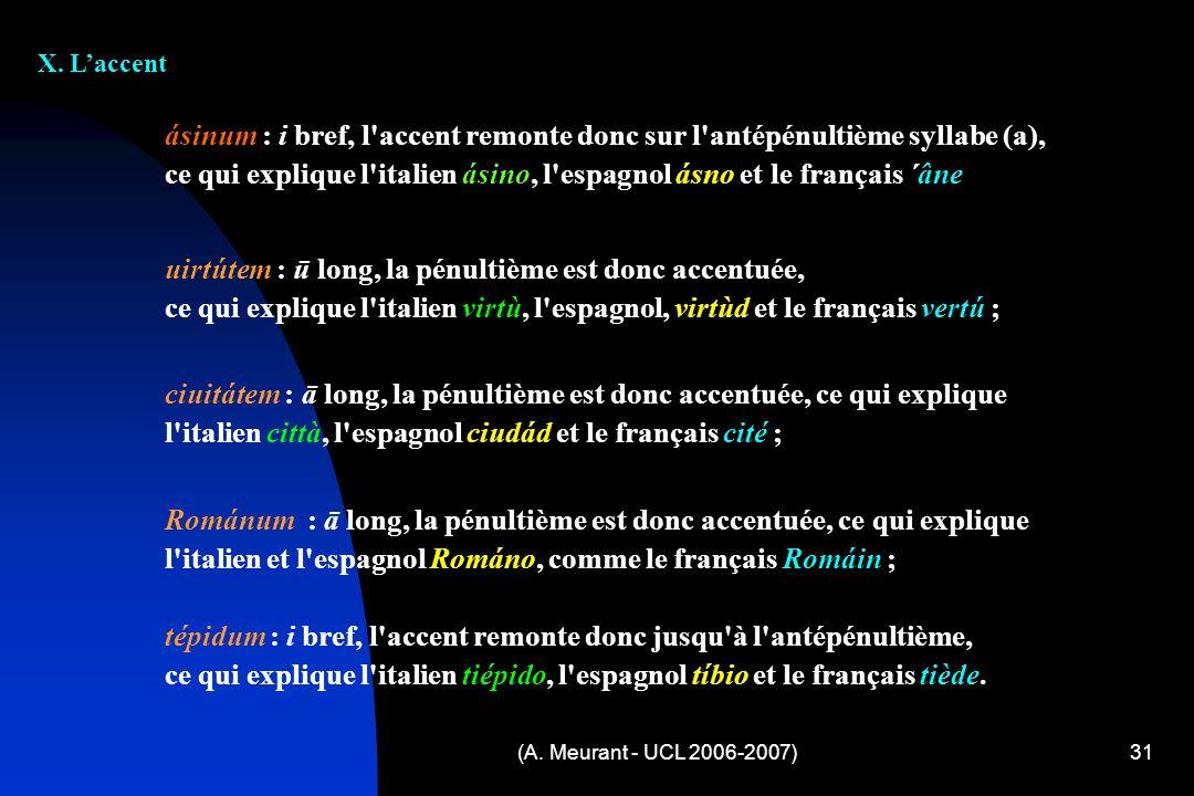 ce qui explique l italien ásino, l espagnol ásno et le français ´âne