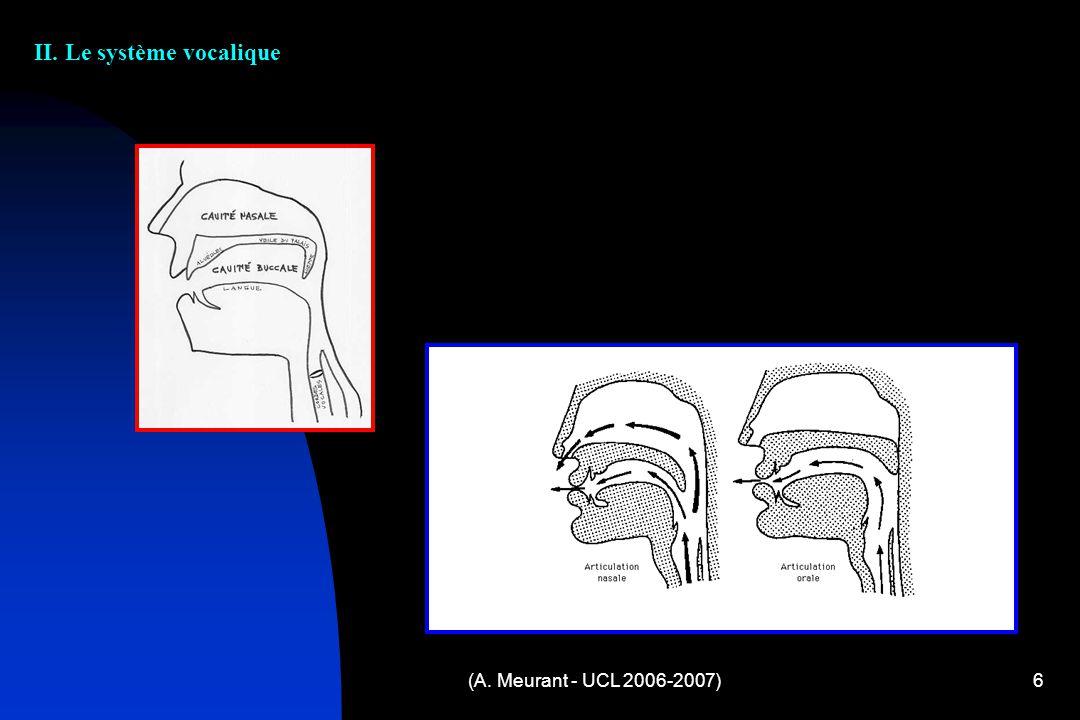 II. Le système vocalique