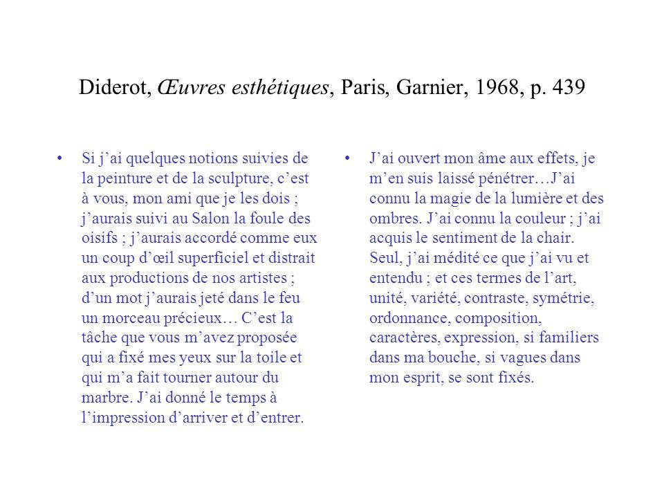Diderot, Œuvres esthétiques, Paris, Garnier, 1968, p. 439