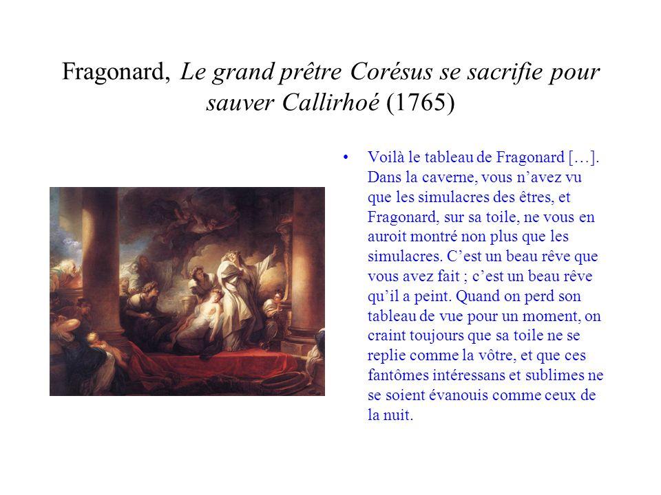 Fragonard, Le grand prêtre Corésus se sacrifie pour sauver Callirhoé (1765)