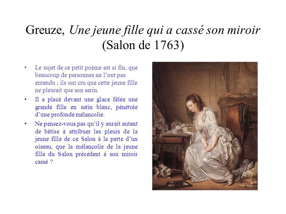 Greuze, Une jeune fille qui a cassé son miroir (Salon de 1763)