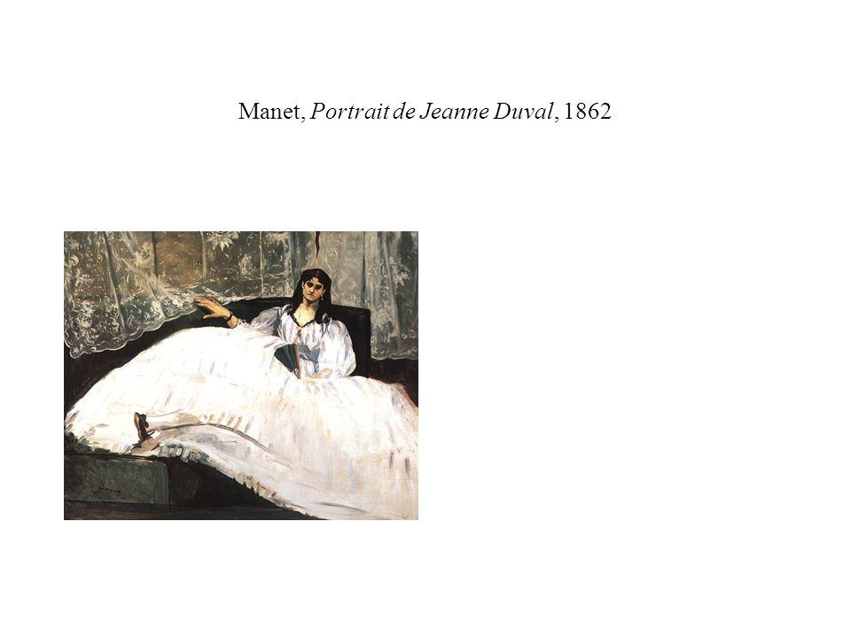 Manet, Portrait de Jeanne Duval, 1862