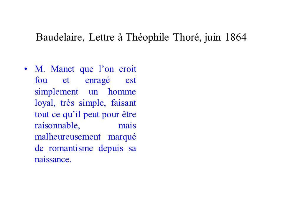 Baudelaire, Lettre à Théophile Thoré, juin 1864