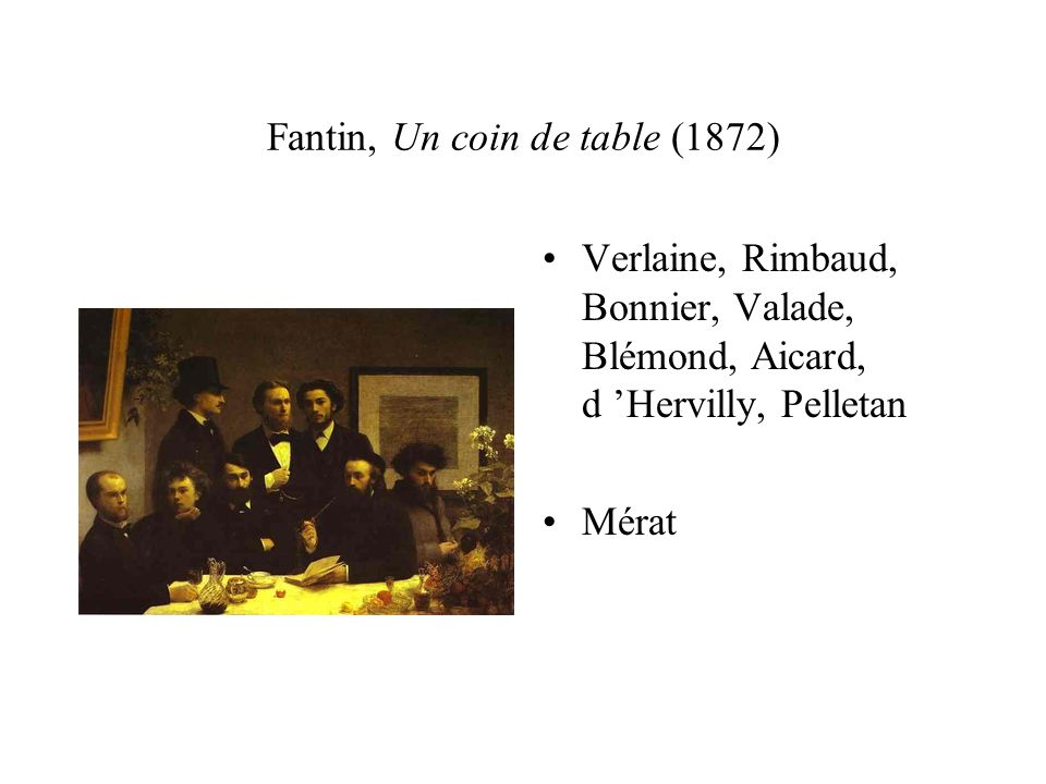 Fantin, Un coin de table (1872)