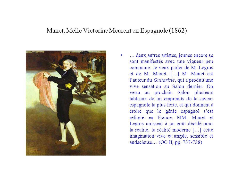 Manet, Melle Victorine Meurent en Espagnole (1862)