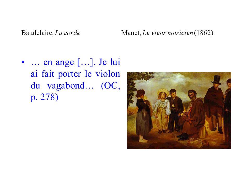 Baudelaire, La corde Manet, Le vieux musicien (1862)