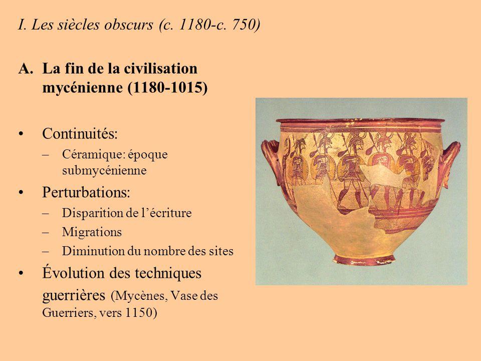 I. Les siècles obscurs (c. 1180-c. 750)