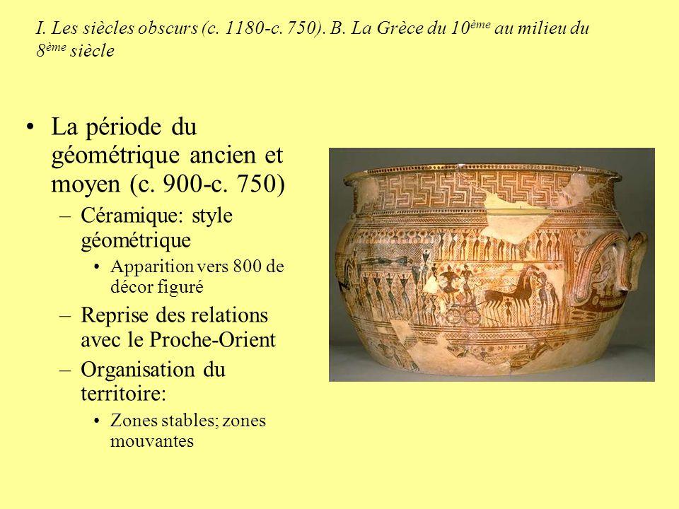 La période du géométrique ancien et moyen (c. 900-c. 750)