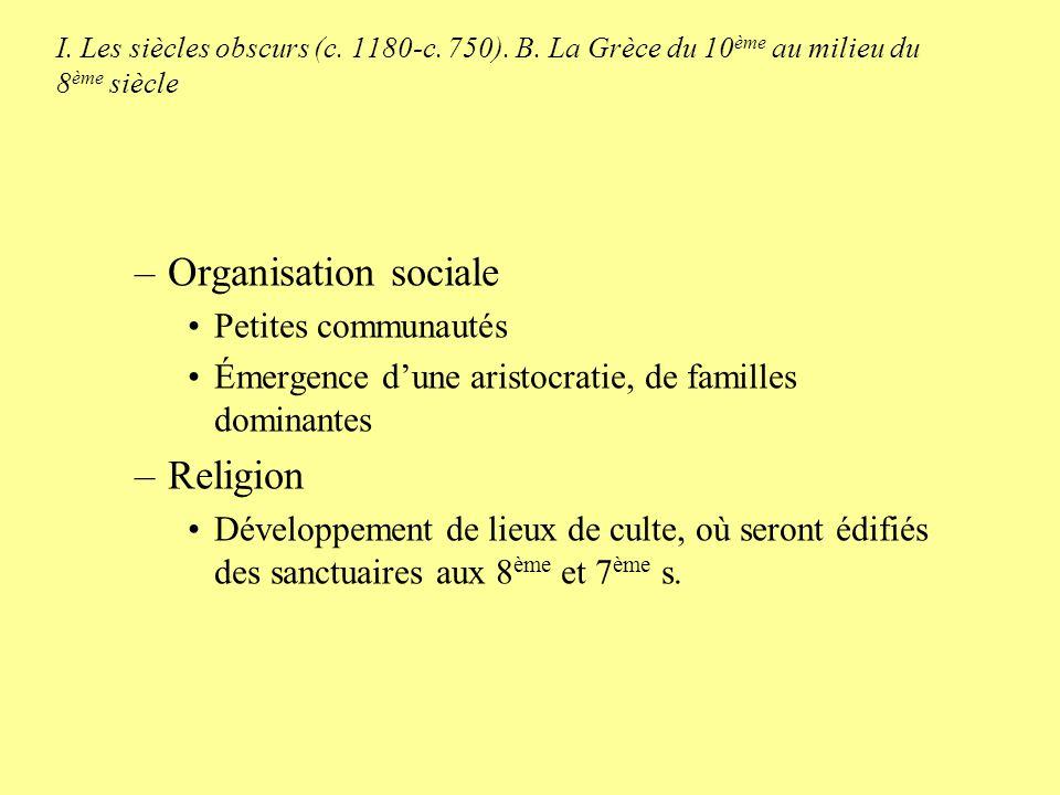 Organisation sociale Religion Petites communautés
