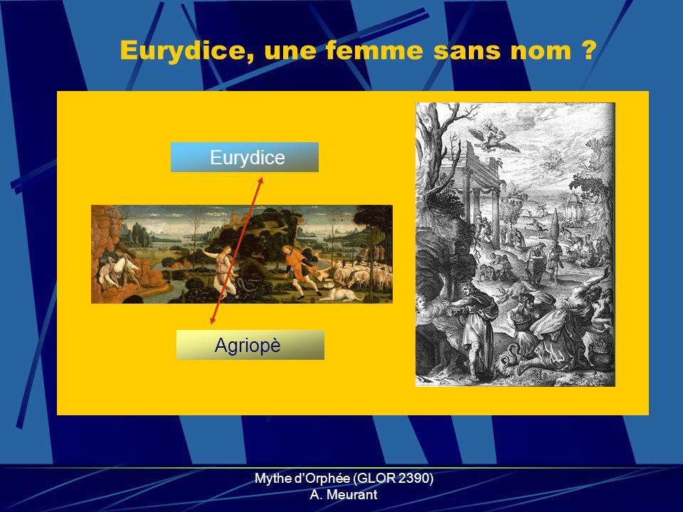 Eurydice, une femme sans nom