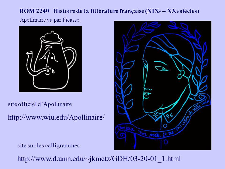 Apollinaire vu par Picasso