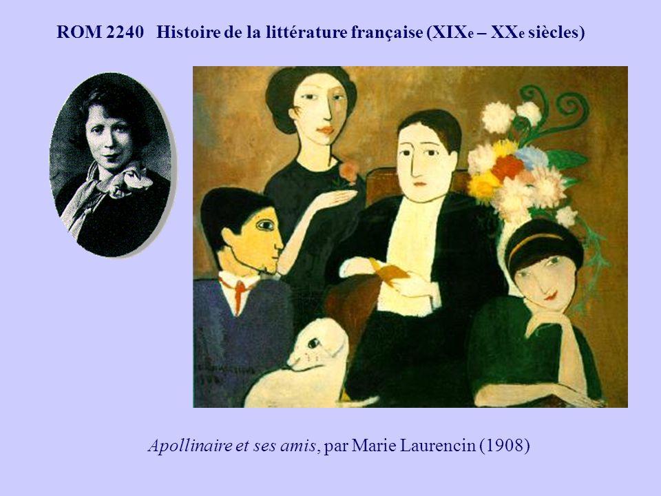 Apollinaire et ses amis, par Marie Laurencin (1908)