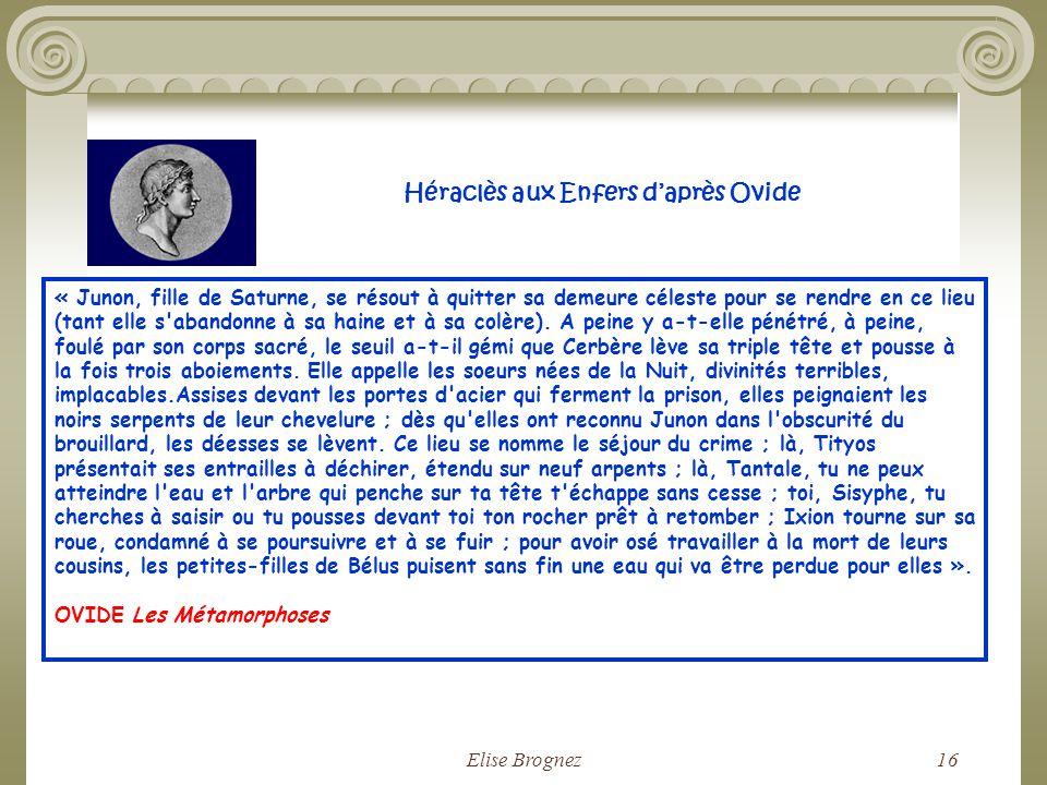 Héraclès aux Enfers d'après Ovide