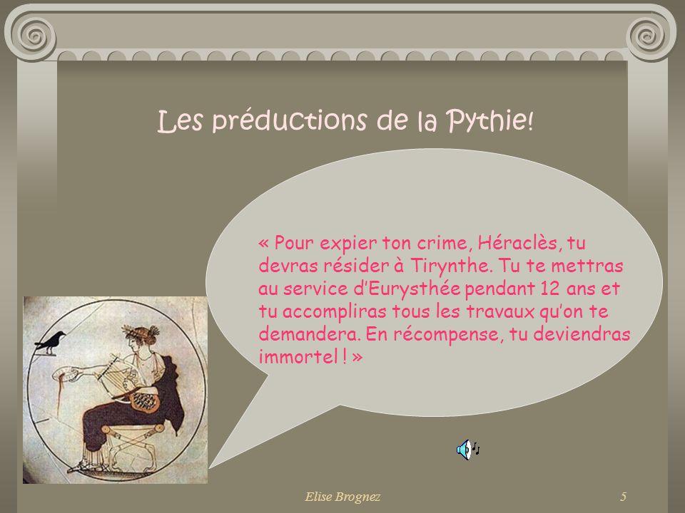 Les préductions de la Pythie!