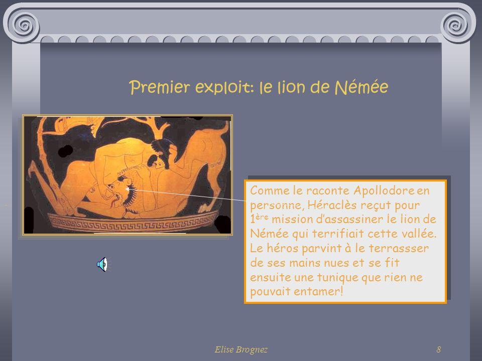 Premier exploit: le lion de Némée