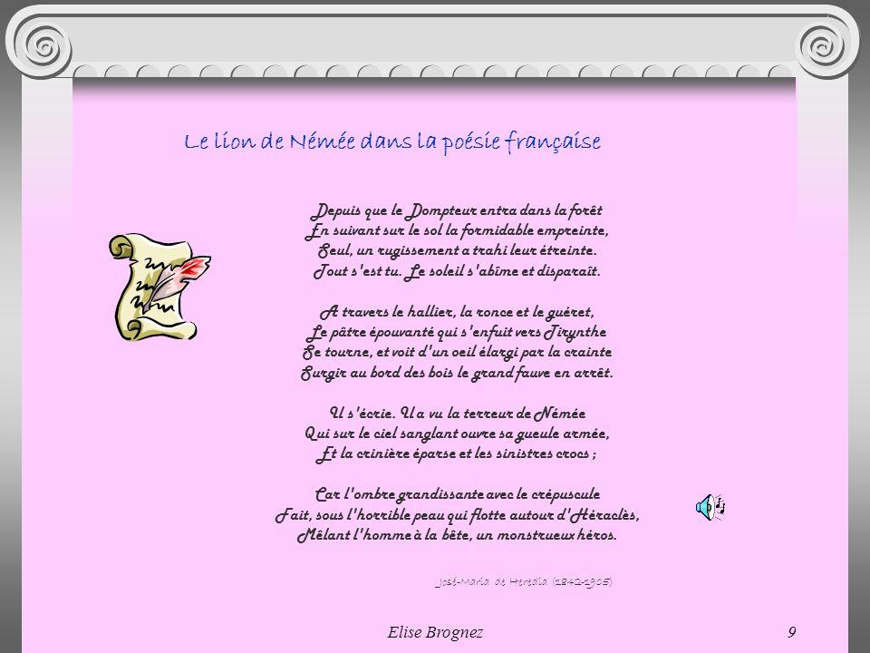 Le lion de Némée dans la poésie française