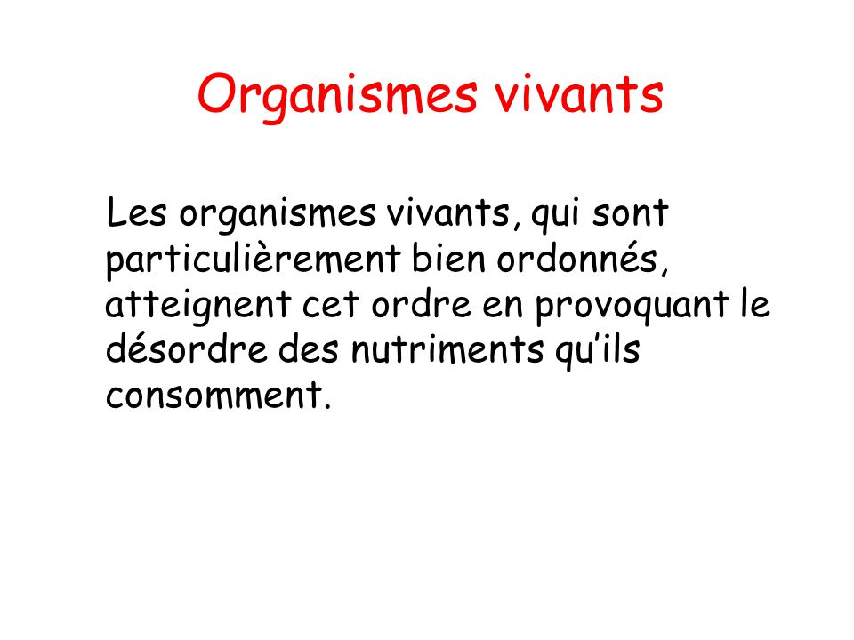 Organismes vivants