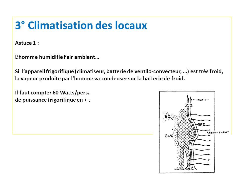 3° Climatisation des locaux