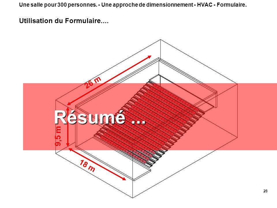 Résumé ... 26 m 9,5 m 18 m Utilisation du Formulaire....