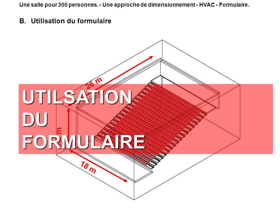 UTILSATION DU FORMULAIRE
