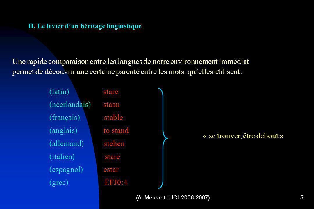 II. Le levier d'un héritage linguistique