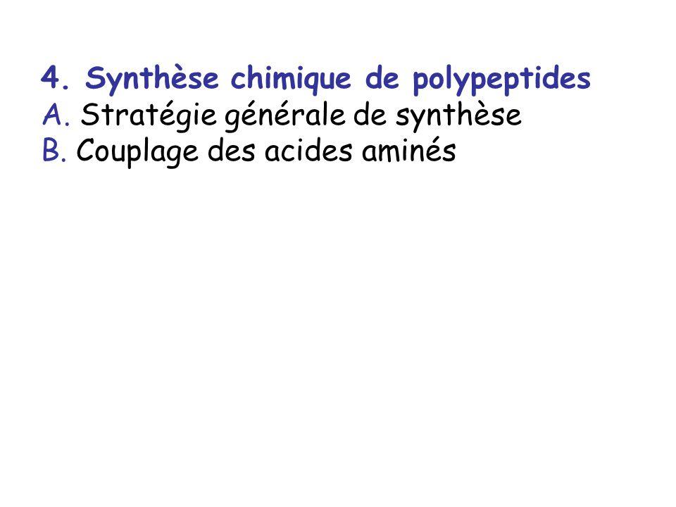 4. Synthèse chimique de polypeptides