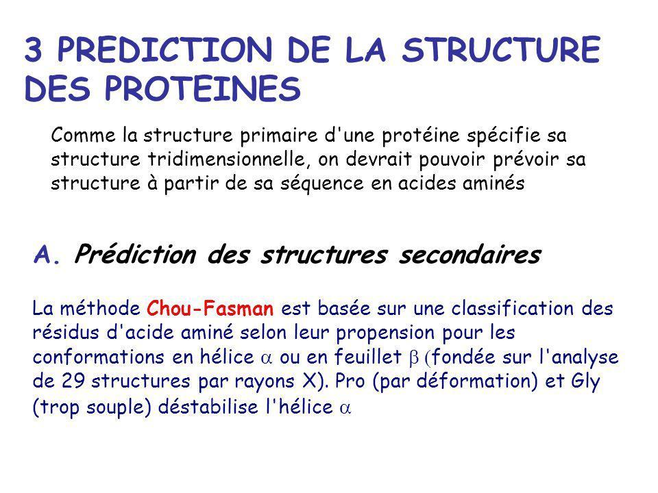 3 PREDICTION DE LA STRUCTURE DES PROTEINES