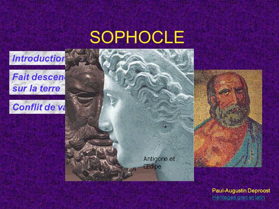 SOPHOCLE Introduction d'un troisième acteur