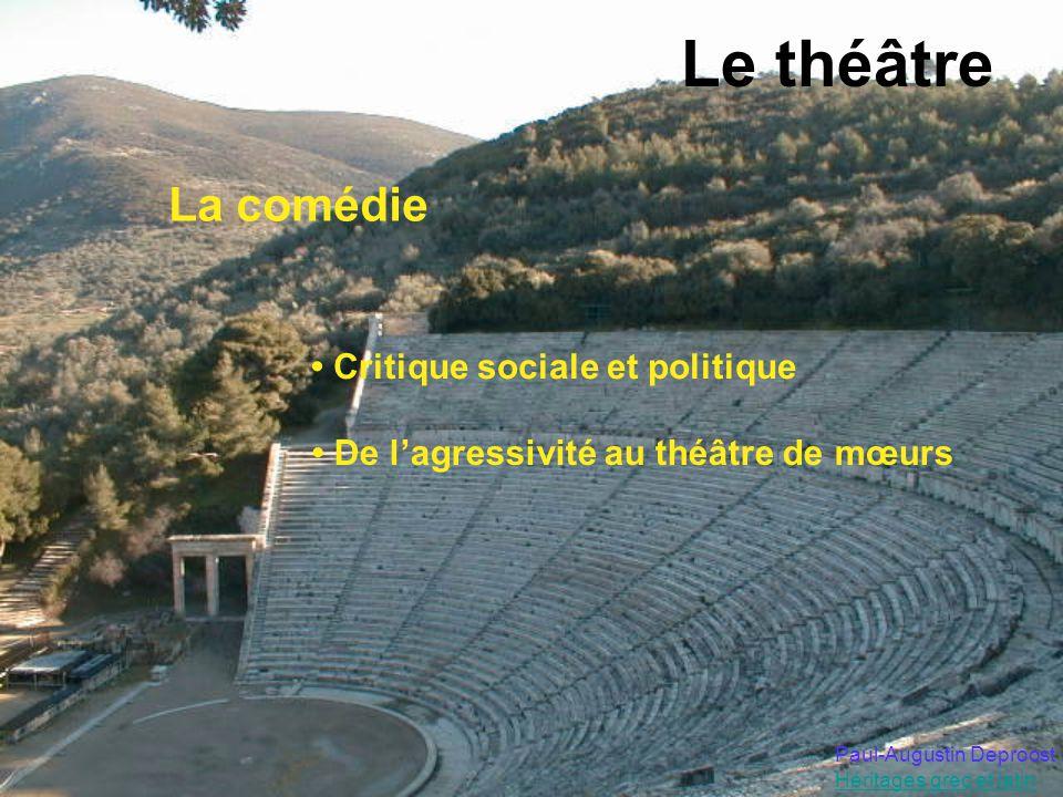 Le théâtre La comédie • Critique sociale et politique