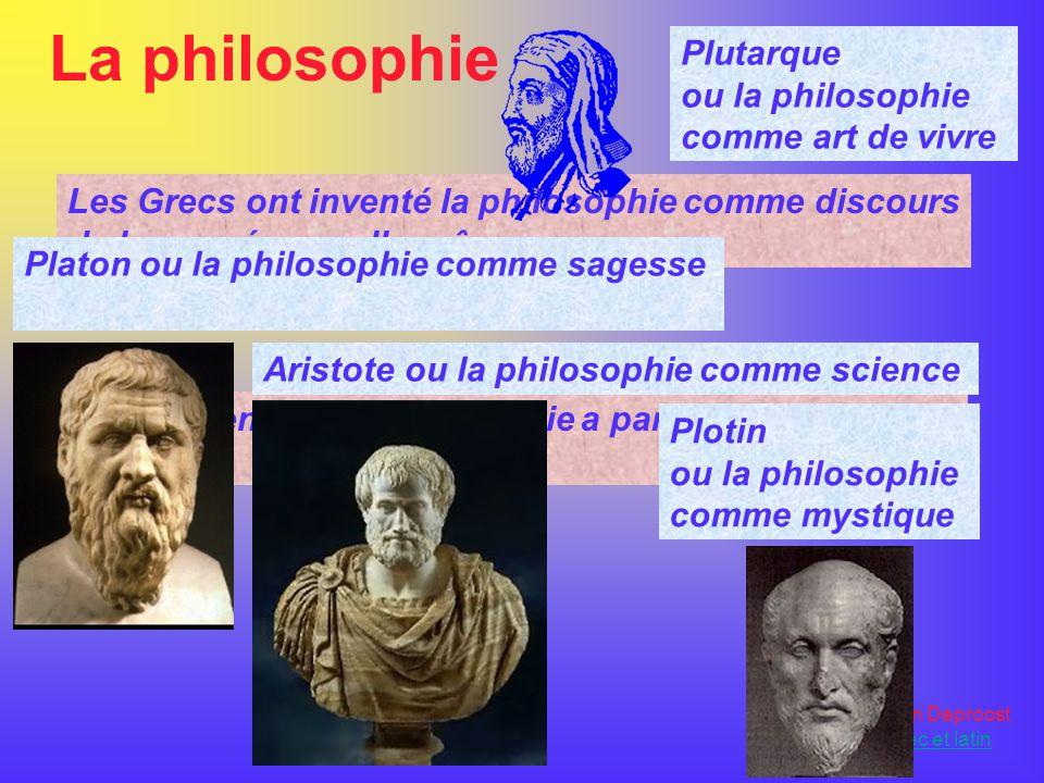 La philosophie Plutarque ou la philosophie comme art de vivre